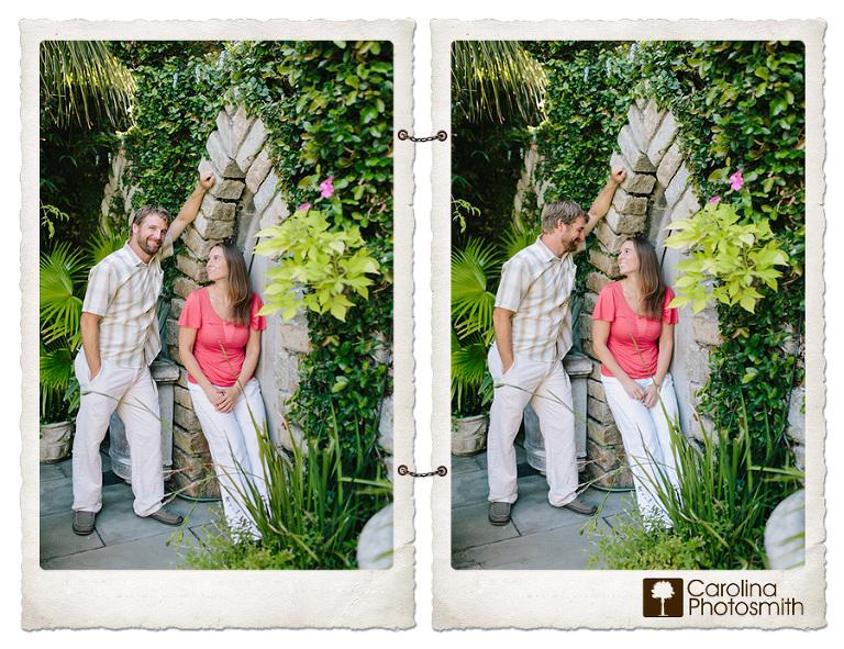 Charleston garden engagement, Sarah & Arthur | Charleston Garden Engagement