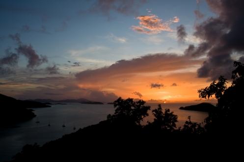 Last Light Over Maho Bay