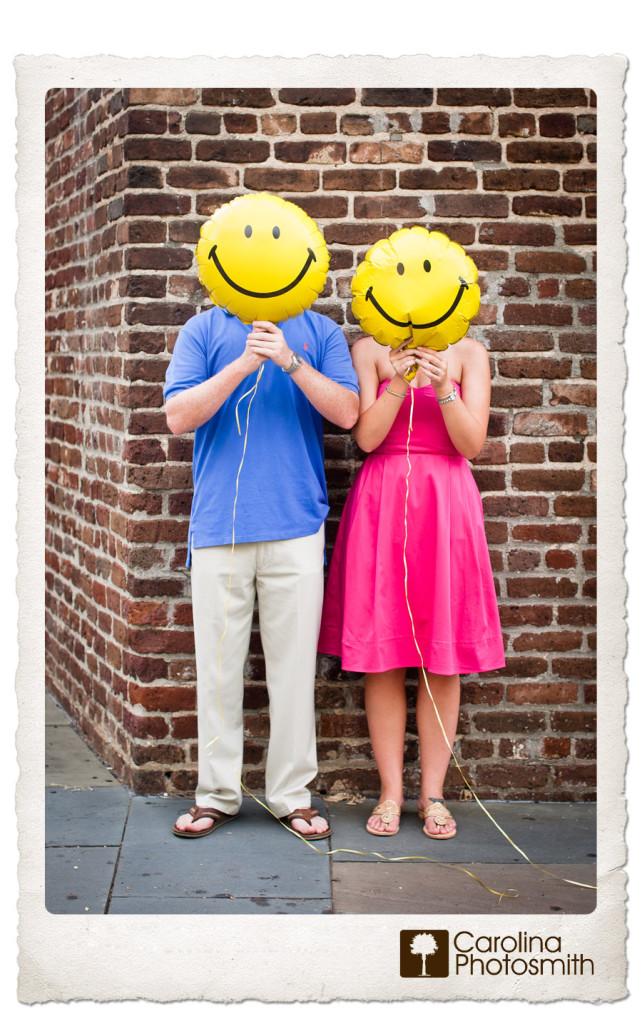 Faceless Friday #6 Balloon Heads Charleston Engagement by Carolina Photosmith