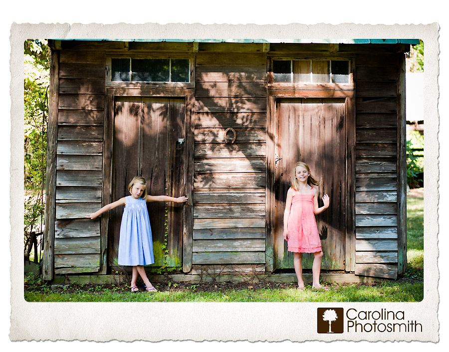 Colorful Outdoor Portrait of Sisters at the Farm