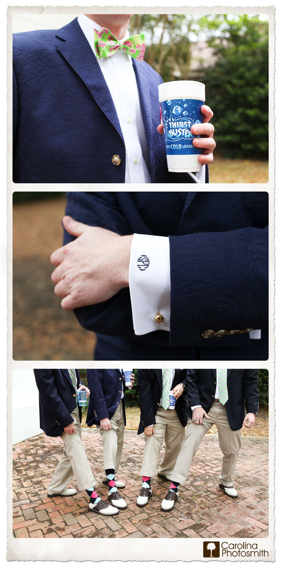 Groom Details Southern Charm - Monogram and Argyles