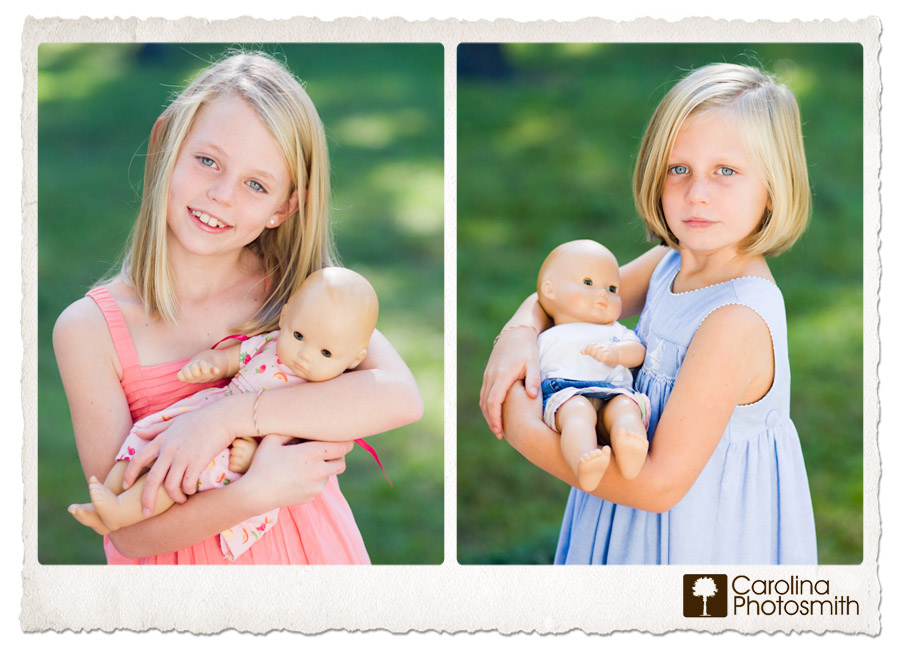 Sisters Love Bitty Babies by Carolina Photosmith