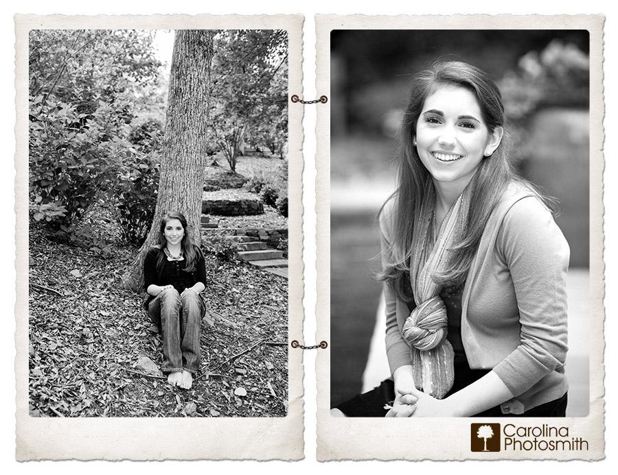 Timeless outdoor senior portraits in an Atlanta backyard by Jennifer H. Smith