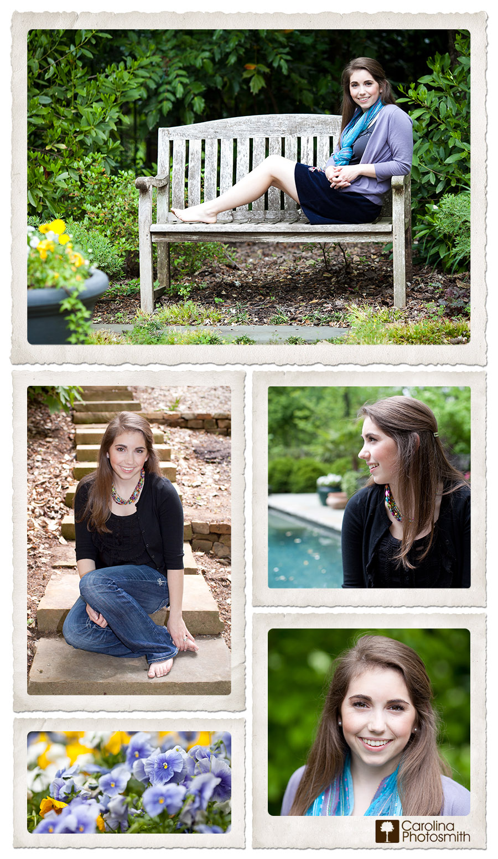 Backyard senior portraits by Jennifer H. Smith