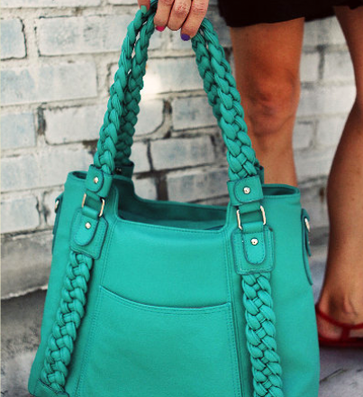 Turquoise Clover camera bag by Epiphanie -- happy birthday to me?