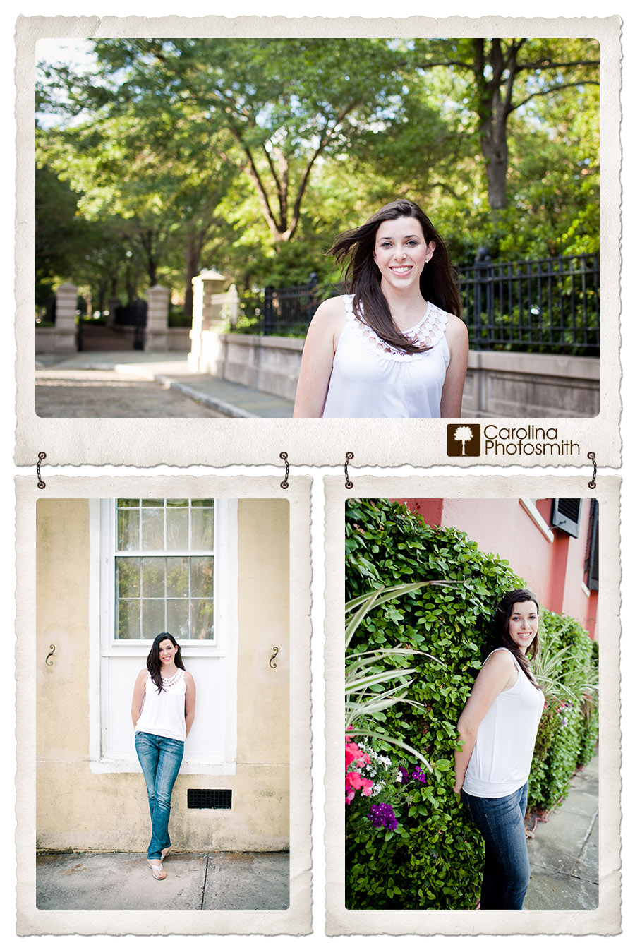 Relaxed and colorful portrait session in downtown Charleston of home-schooled senior