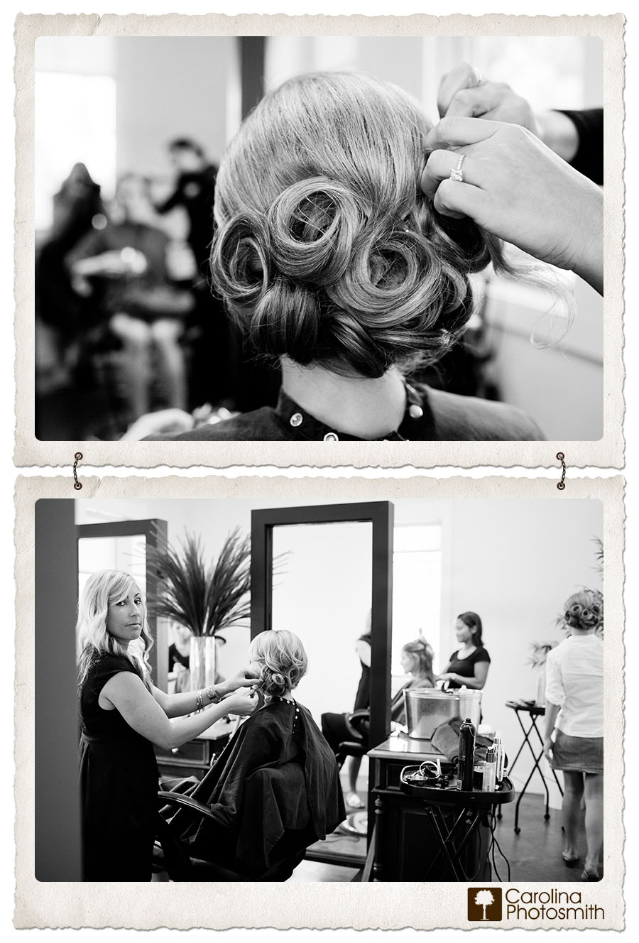 Stox & Co stylist in Litchfield Beach preps the bride and bridesmaids for a gorgeous DeBordieu wedding