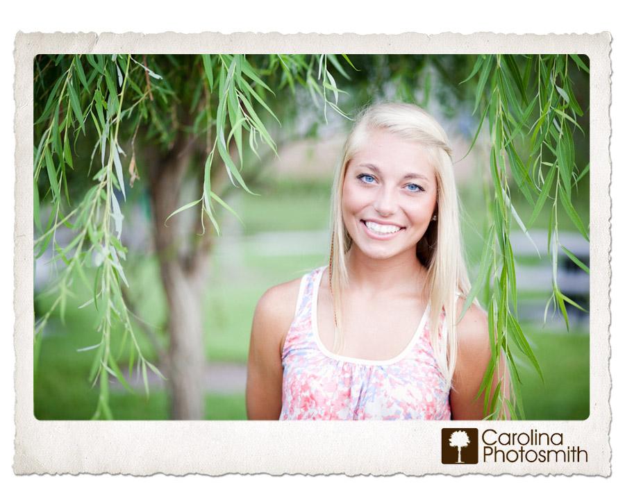 Senior portrait of my niece in the willow tree by Carolina Photosmith