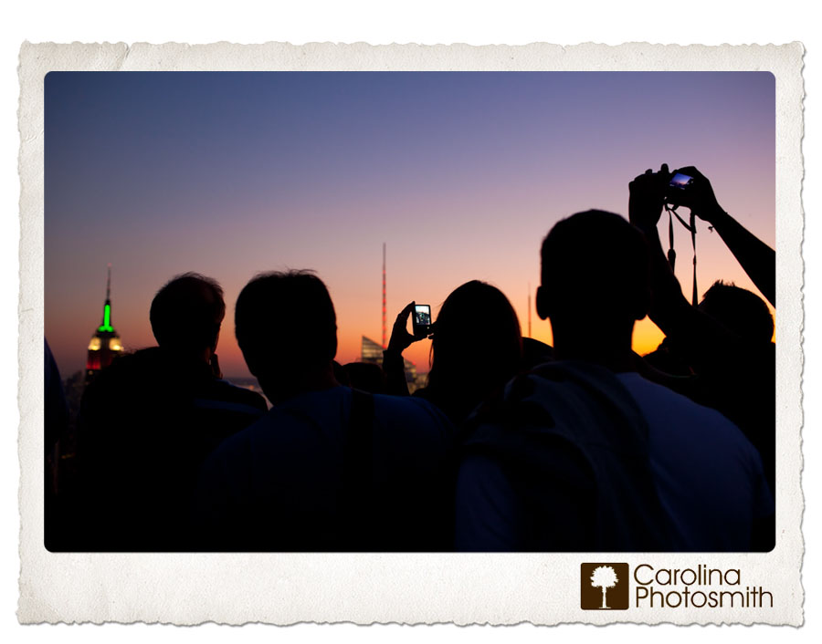 Faceless Friday by Carolina Photosmith, Silhouette Sunset at the Top of the Rock NYC