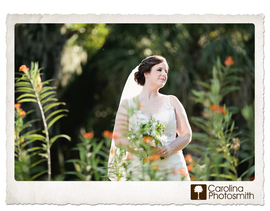 Natural Charleston Bride in Lowcountry Setting at Charlestowne Landing
