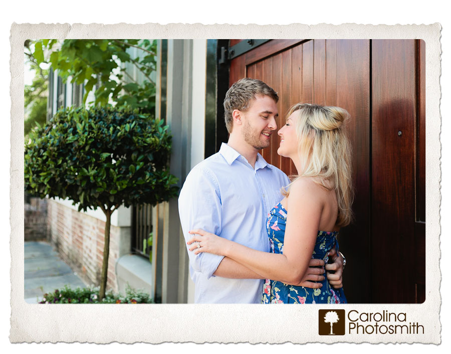 Charming engagement session on a spring afternoon in historic Charleston.
