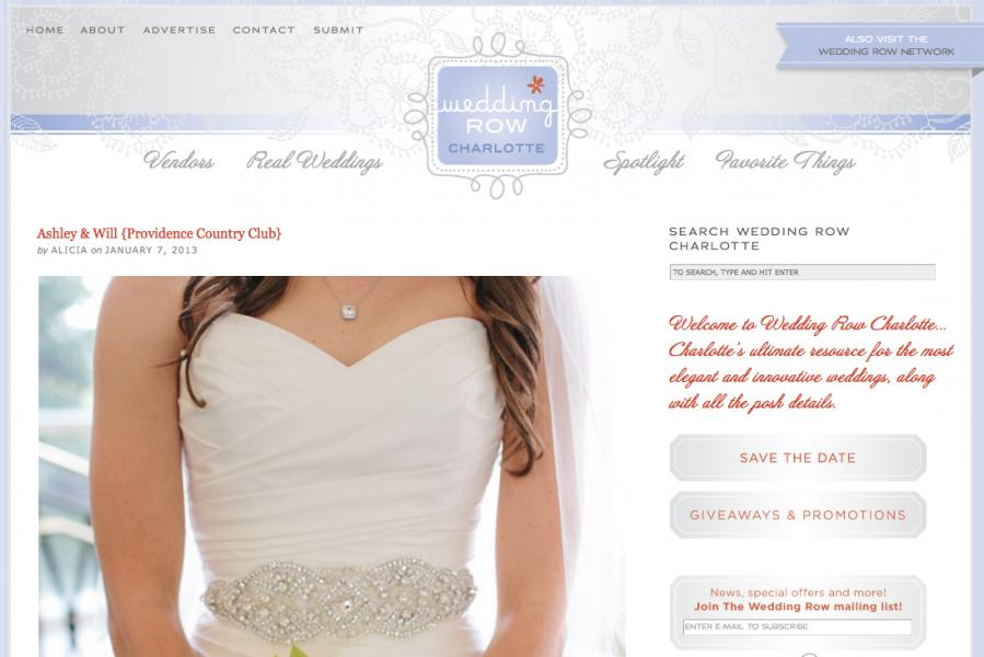 Elegant NC wedding shot by Carolina Photosmith featured on Wedding Row Charlotte