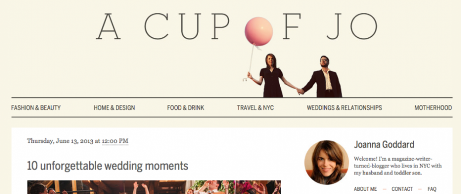Carolina Photosmith featured on A Cup of Jo | Unforgettable Wedding Moments