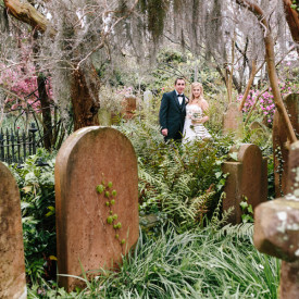 Till Death Do Us Part at Charleston's Unitarian Graveyard © Carolina Photosmith