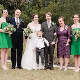 Family portrait fun on wedding day at Founders Hall. Charleston wedding gallery