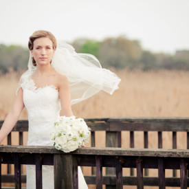 Elegant bridal portrait at DeBordieu Club and Atalaya by Carolina Photosmith
