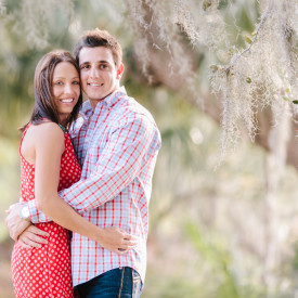 Montana couple chose mossy Lowcountry engagement session at Boone Hall Plantation. © Carolina Photosmith