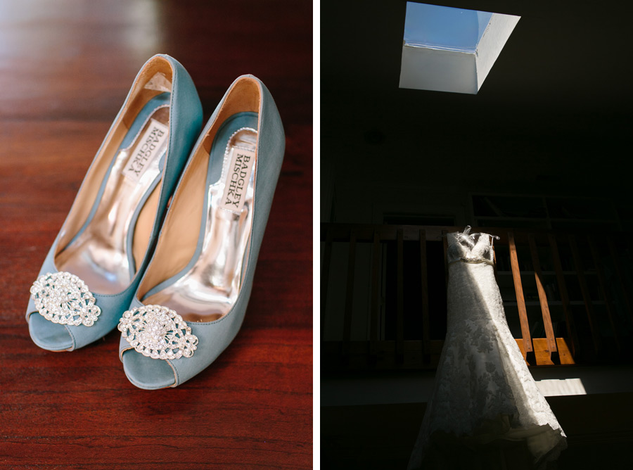 Something blue: Badgley Mischkas and a Charleston sky © Carolina Photosmith