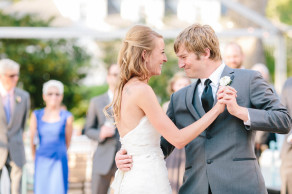 First dance at Lowndes Grove wedding. Groom