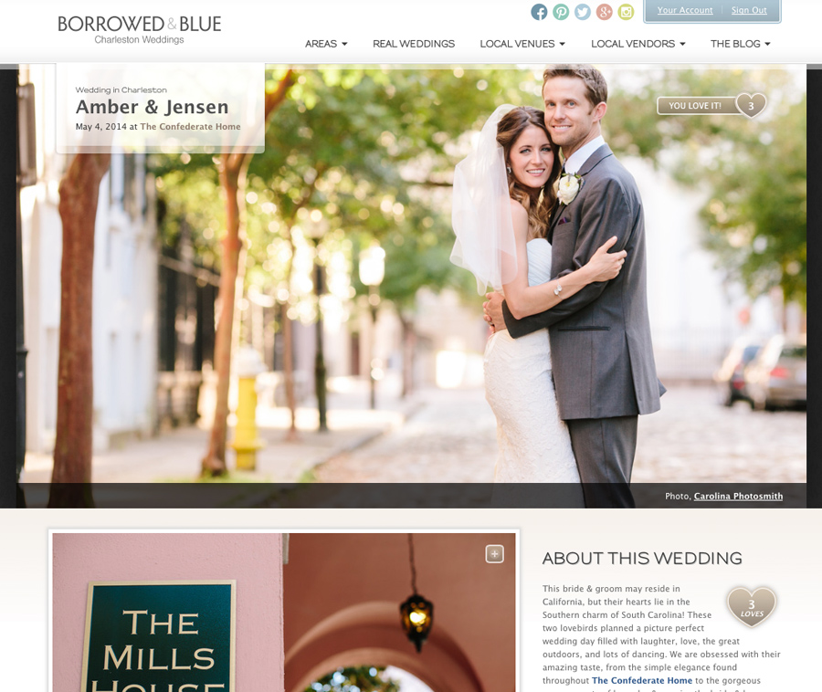 Featured Charleston wedding photographer Carolina Photosmith on Borrowed & Blue