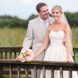 DC Newlyweds before their summer reception at the DeBordieu Golf Club in Georgetown, SC. © Carolina Photosmith