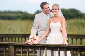 DC Newlyweds before their summer reception at the DeBordieu Golf Club in Georgetown, SC. © Carolina Photosmith