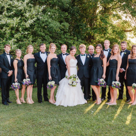 Elegant wedding party at the Island House on Stono River near Charleston. © Carolina Photosmith
