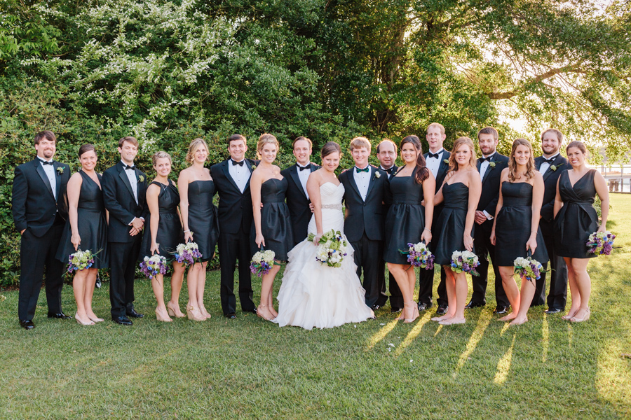 Elegant wedding party at the Island House on Stono River near Charleston. © Carolina Photosmith