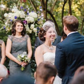 Lush, fall garden wedding at historic venue in Charleston. Thomas Bennett House wedding © Carolina Photosmith