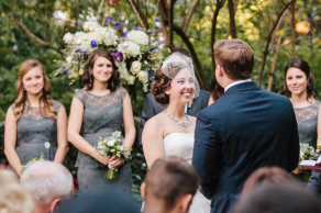 Lush, fall garden wedding at historic venue in Charleston. Thomas Bennett House wedding © Carolina Photosmith