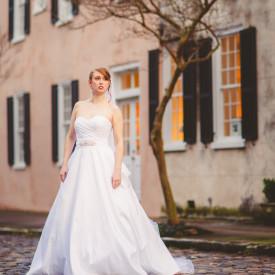 Elegant Charleston bridal portrait by Carolina Photosmith