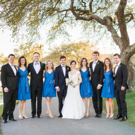 Something blue at elegant spring DeBordieu Club wedding reception © Carolina Photosmith