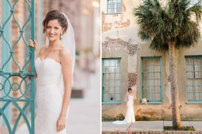Elegant historic Charleston bridal portraits © Carolina Photosmith