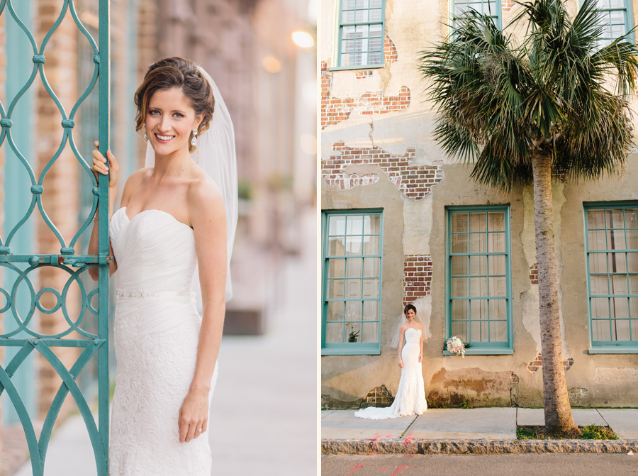Elegant historic Charleston bridal portraits © Carolina Photosmith