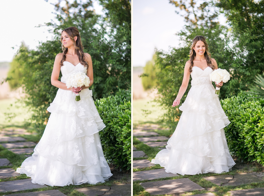 Elegant Daniel Island Club bride in Maggie Sottero gown from Bridals by Jodi. © Carolina Photosmith