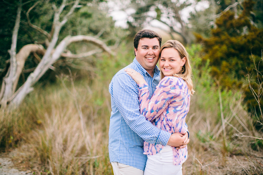 Fun, foggy Folly Beach engagement session. © Carolina Photosmith