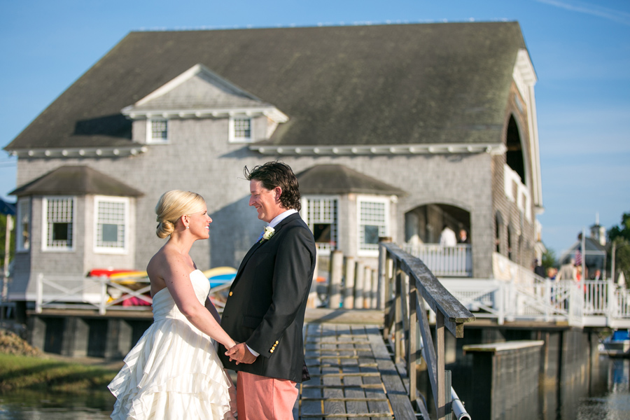 Newlyweds in June at Kennebunk River Club. © Carolina Photosmith