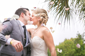 Wedding relocated and postponed a day for Charleston flood, but this at-home wedding was perfect! © Carolina Photosmith
