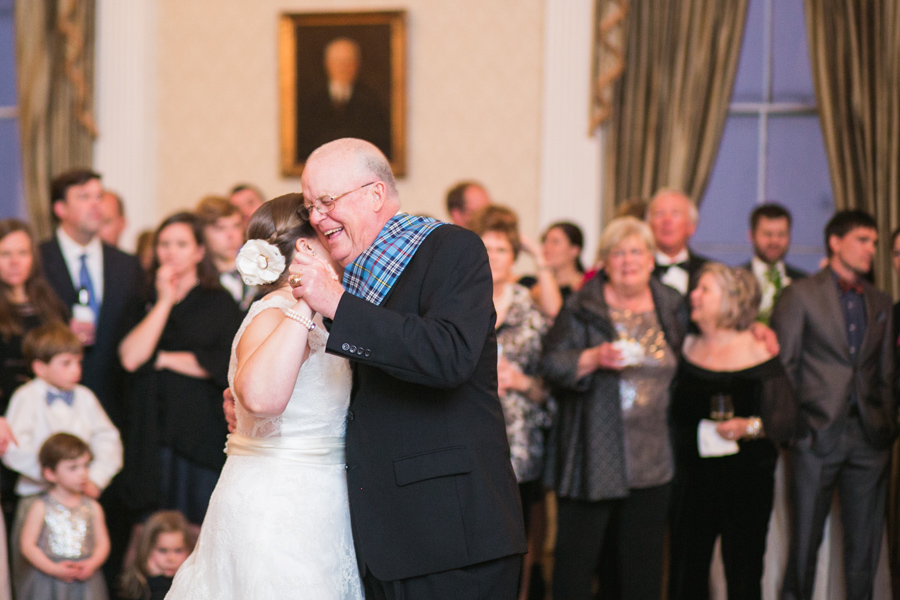 Charleston wedding photography highlights include lots of special moments with brides and their dads. © Carolina Photosmith