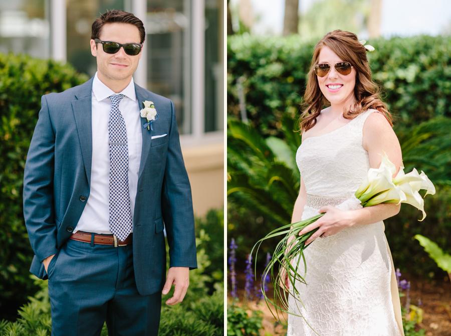 Gorgeous wedding portraits of fun couple before their St. Simons Island wedding. © Carolina Photosmith