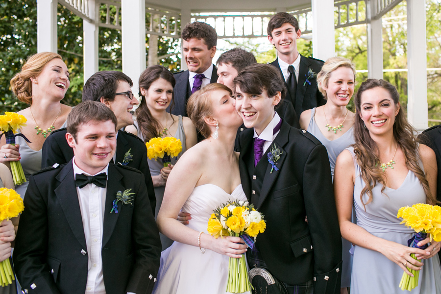Charming and jubilant spring wedding in Atlanta at Marietta Garden Center. © Carolina Photosmith