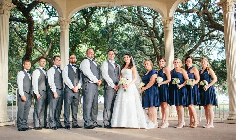Destination wedding party at Charleston