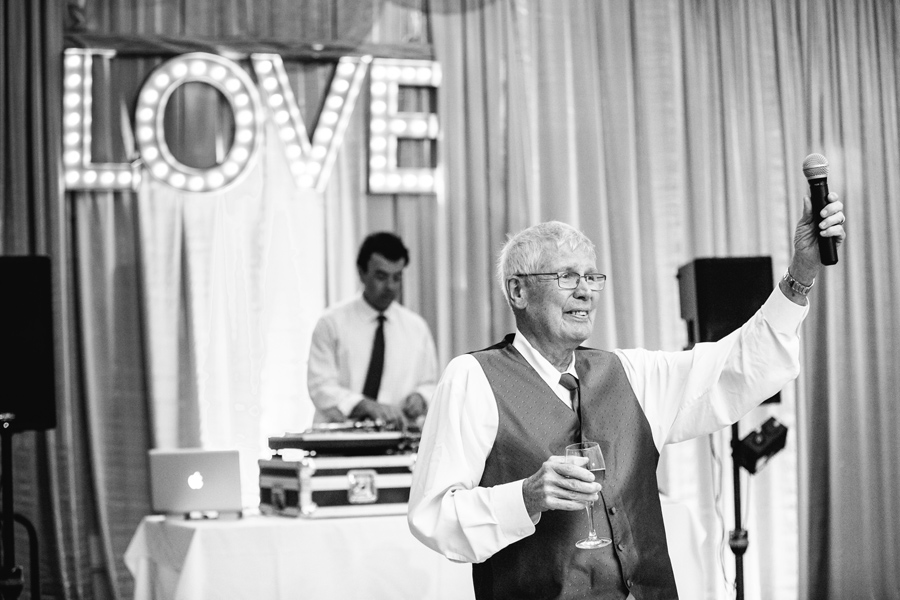 All you need is Love. A toast at this Wild Dunes wedding. © Carolina Photosmith