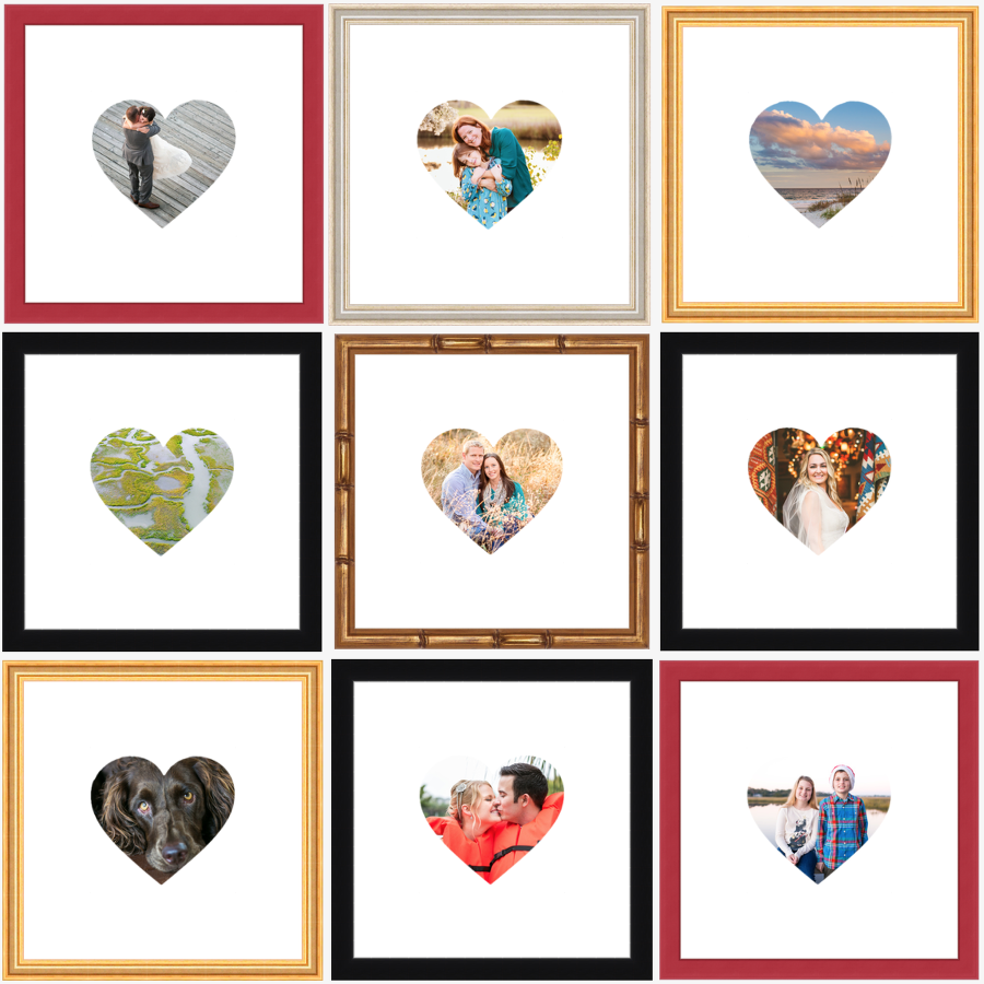 Frame your faves with Framebridge! Heartstagram images by Charleston photographer Carolina Photosmith.