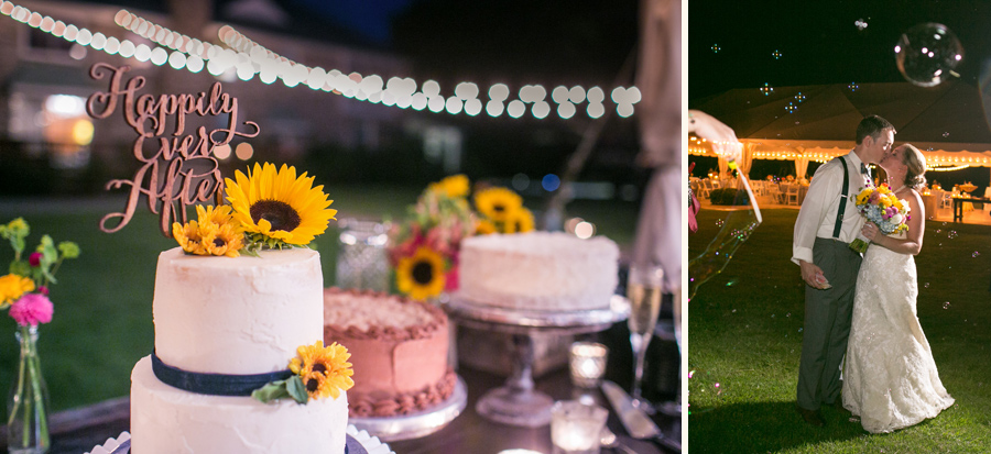 Beautiful cakes baked by the bride