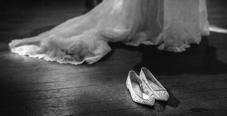 Elegant Louboutin flats for this Charleston bride at Circular Congregat