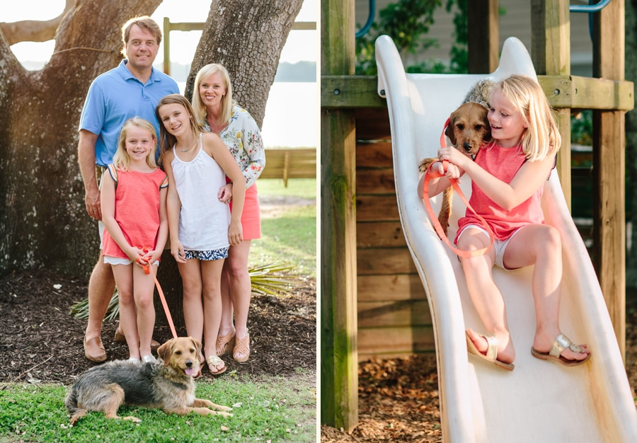 Mount Pleasant family photography. Hobcaw Creek. © Carolina
