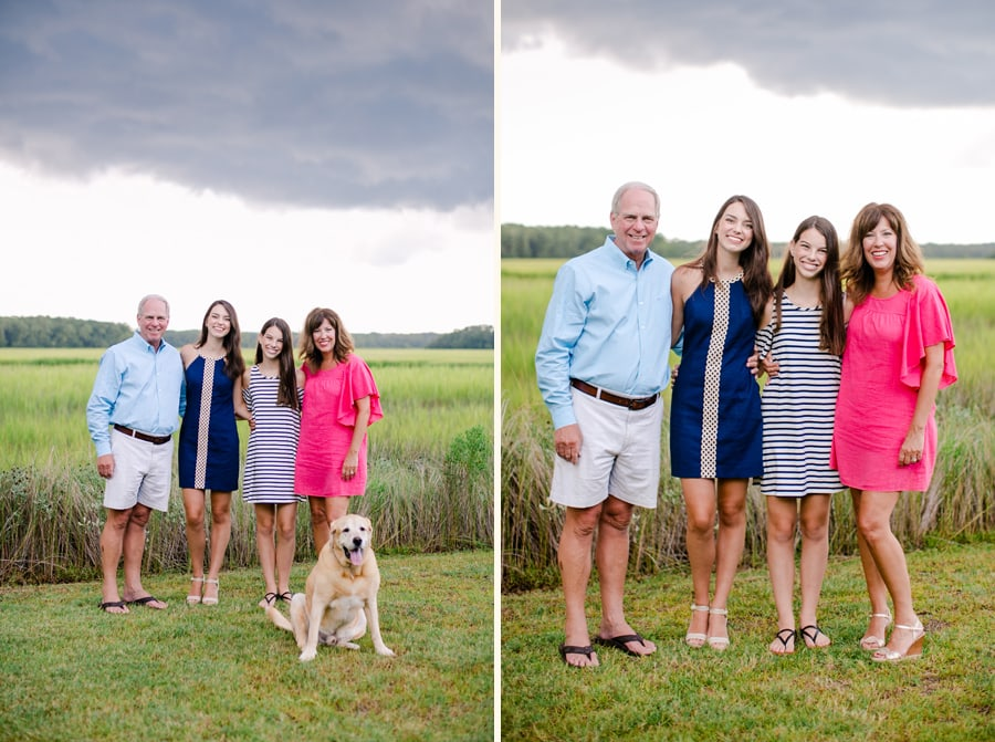 Fun family photos on stormy Edisto Island afternoon