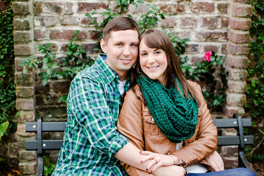 Charleston holiday engagement for Atlanta couple by Carolina Pho