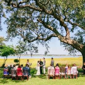 Intimate outdoor wedding at River House Charleston